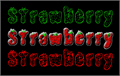Illustration of font Strawberry