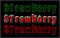 Illustration of font Strawberry