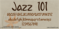 Illustration of font Jazz 101