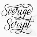Illustration of font Sverige Script Demo