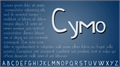 Illustration of font Cymo