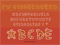 Illustration of font PWGingerbread