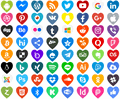 Illustration of font Icons Color Love