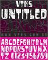 Illustration of font vtks untitled