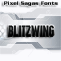 Illustration of font Blitzwing