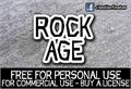 Illustration of font CF Rock Age