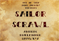 Illustration of font Sailor Scrawl