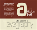 Illustration of font Tevegraphy