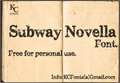 Illustration of font Subway Novella