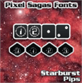 Illustration of font Starburst Pips