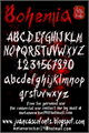 Illustration of font Bohemia