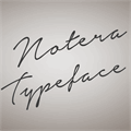 Illustration of font Notera Personal Use Only