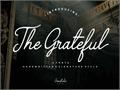Illustration of font The Grateful 4