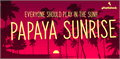Illustration of font Papaya Sunrise