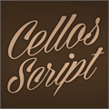 Illustration of font Cellos Script Personal Use Only
