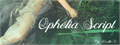 Illustration of font Ophélia Script