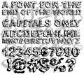 Illustration of font Apocalypshit