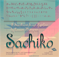 Illustration of font Sachiko