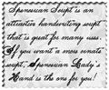 Illustration of font Spencerian Lady's Hand SW