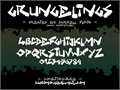 Illustration of font Grungelings