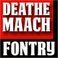Illustration of font DEATHE MAACH NCV