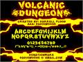 Illustration of font Volcanic Dungeon