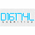 Illustration of font Digital cognitive