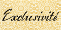 Illustration of font Exclusivite