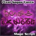 Illustration of font Mage Script