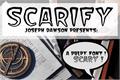 Illustration of font Scarify