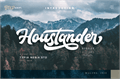 Illustration of font Houstander Demo