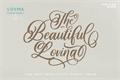Illustration of font Beautiful Lovina