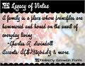 Illustration of font KG Legacy of Virtue