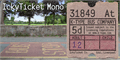 Illustration of font IckyTicket Mono