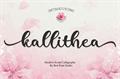 Illustration of font kallithea