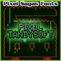 Illustration of font Pixel Tandysoft