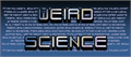 Illustration of font Weird Science NBP