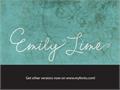 Illustration of font Emily Lime Words