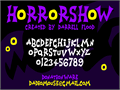 Illustration of font Horrorshow
