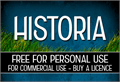 Illustration of font CF Historia