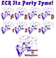 Illustration of font LCR Itz Party Tyme!