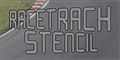 Illustration of font Racetrack Stencil