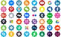 Illustration of font Font Icons Color