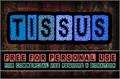 Illustration of font CF Tissus demo
