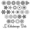 Illustration of font JI Kaleidoscope Bats