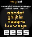 Illustration of font MAG Font