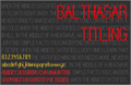 Illustration of font Balthasar Regular NBP