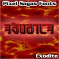 Illustration of font Exodite