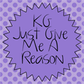 Illustration of font KG Just Give Me A Reason