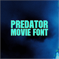 Illustration of font Predator Movie